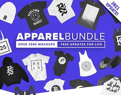 3500+ Apparel Mockups Bundle