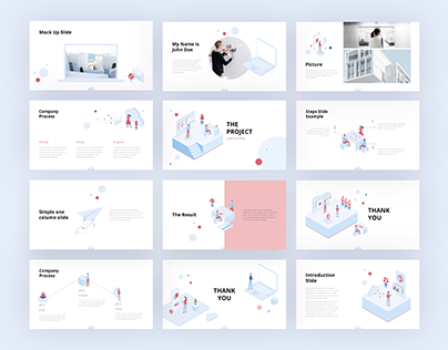 Simple Isometric Presentation Template