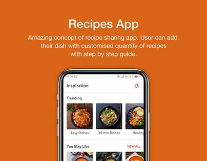 Recipe App UI UX Design