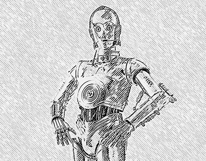 Hatching - C-3PO Fan Art