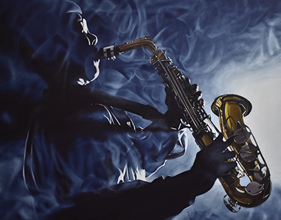 Man Playing the Sax (Commissioned)