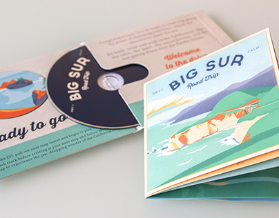 Big Sur Road Trip CD and Illustrated Map
