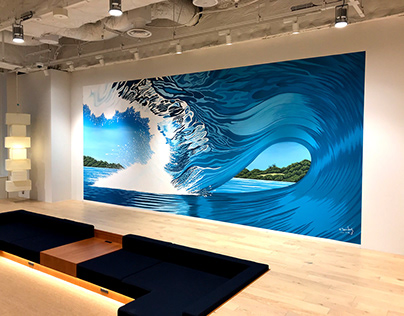 Wework Tokyo World Gate mural production