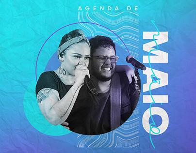 Agenda de Maio - Luiza e Maurílio