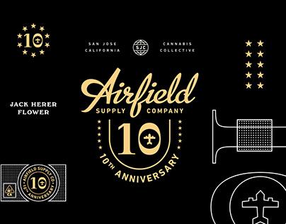 Airfield Supply Co. 10th Anniversary branding