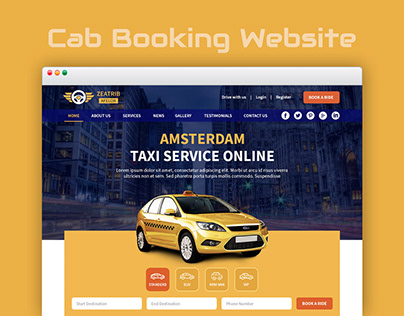 Taxi Booking Website UI/UX