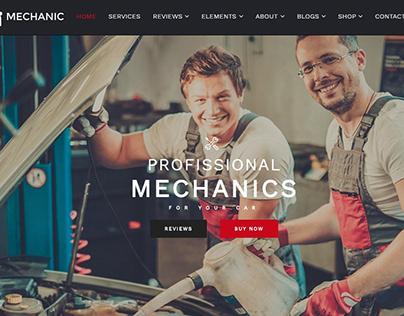 Mechanic WordPress Theme Home Slider