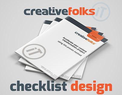 Creative Folks - checklist design