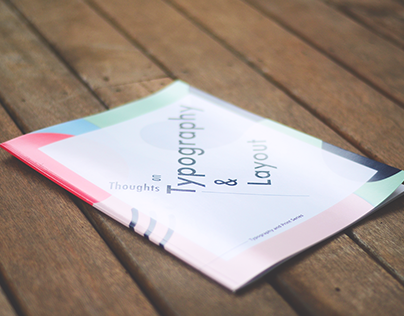 Thoughts on Typography & Layout - Book Design #2681QCA