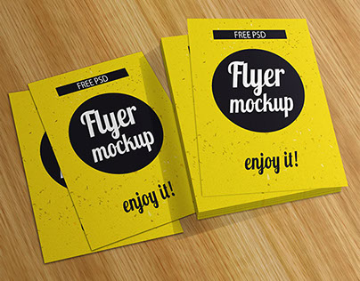 Flyer Mockup PSD