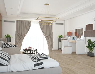 3D Interior Hotel Room
