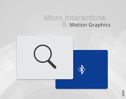 Micro Interactions & Motion Graphics