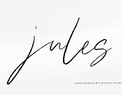 Jules Handwritten Script Font by Wilde Mae Studio