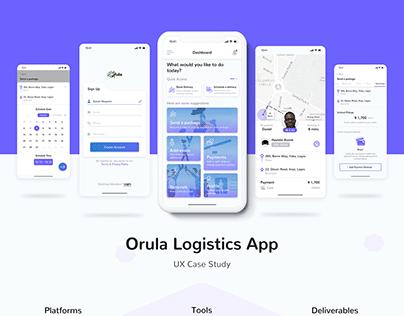 Orula Logistics App UX Case Study