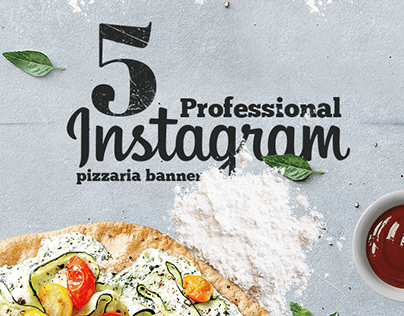 Professional Pizzaria Instagram Banners