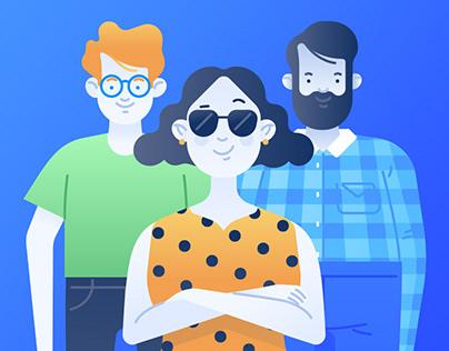 Remessa Online Illustrations