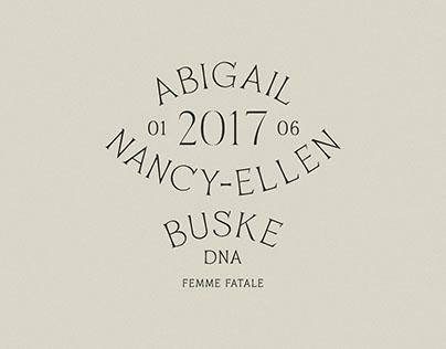 Abigail Nancy-Ellen Buske | 01.06.2017