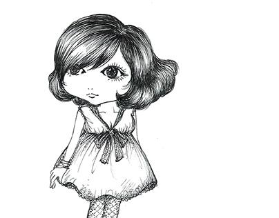 baby doll illustration