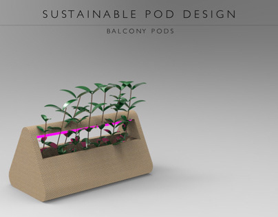 Sustainable Pod Design - Balcony Attachable Pod