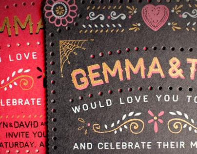 Gemma & Tom // Wedding Invitations