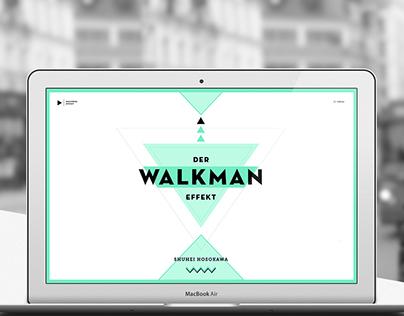 The Walkman Effect - Web Design