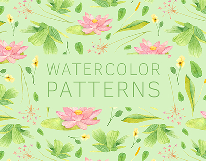 Watercolor patterns 2017