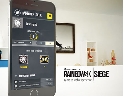 Rainbow Six Siege - Player stats WebApp