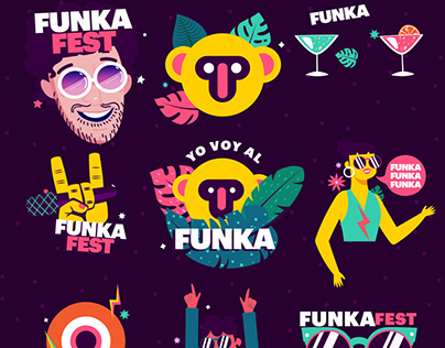 Funka Fest 2019 Animated Stickers