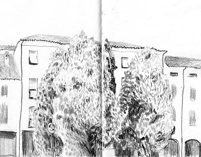 Di passaggio - sketchbook