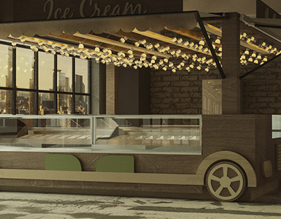 Work in progress for an Ice Cream Corner in Naples