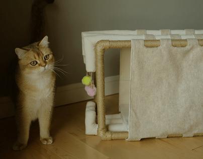 WEAVE & SQUEEZE - Cat Bed Design