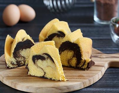 Resep Cake Marmer Spesial Keju Terlezat