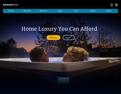 Spas Homepage Design