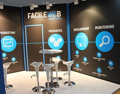 Graphic Project - Stand FacileWeb - IAB Forum Milano