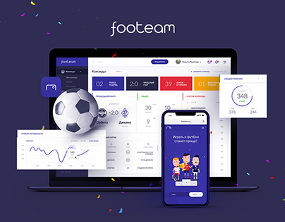 Online Football Platform | UX/UI Design | Dashboard