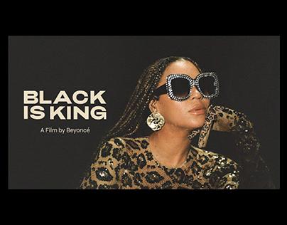 Beyoncé—Black Is King Key Art & Campaign Design