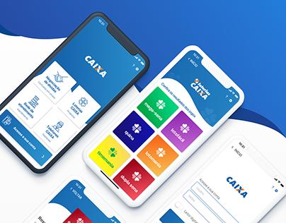 Projeto conceitual - Redesign app CAIXA