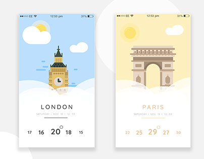 Daily UI #01 Mobile Weather Forecast