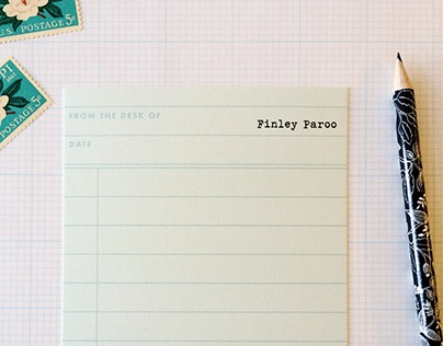 Stationery Design // Library Card Stationery