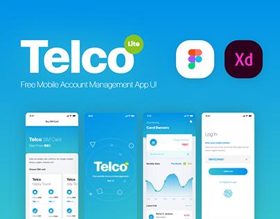 Telco Lite - Free Mobile Management App UI Kit