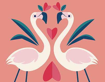 Valentine Flamingo's