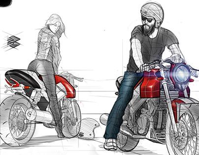 Bajaj Pulsar cafe racer concept