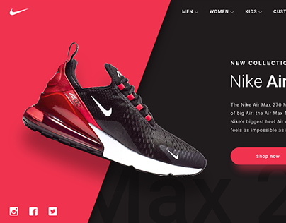 Nike Product Page. Concept Design. .