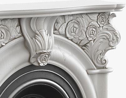 Victorian Fireplace 3D model