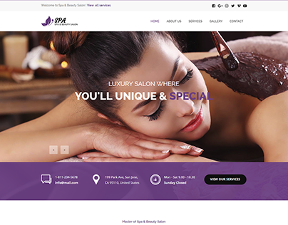 Spa - Responsive Spa & Beauty Template