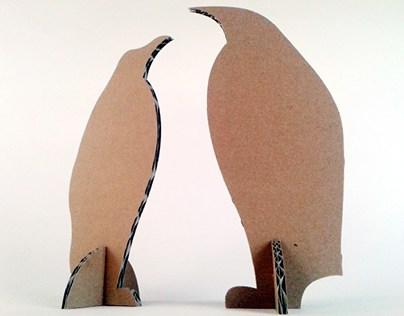Kartonowe zwierzaki  - Pingwin / Cardboard toys  – Peng