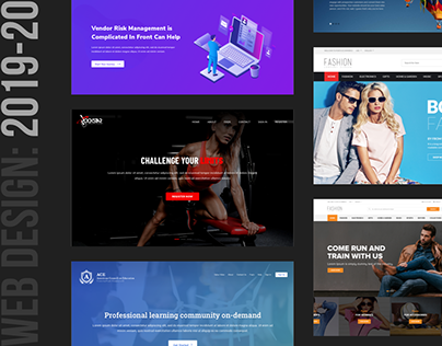 Web Design Interface Collection : 2019-20