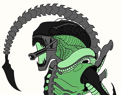 Xenomorph Illustration