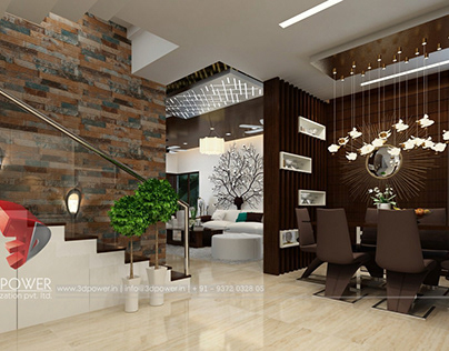 Interior design rendering by 3d power