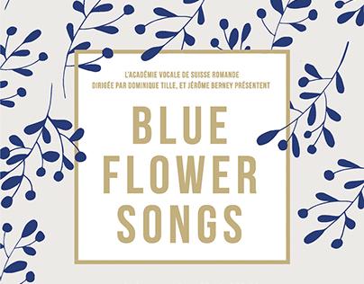 Affiche Blue Flower Songs